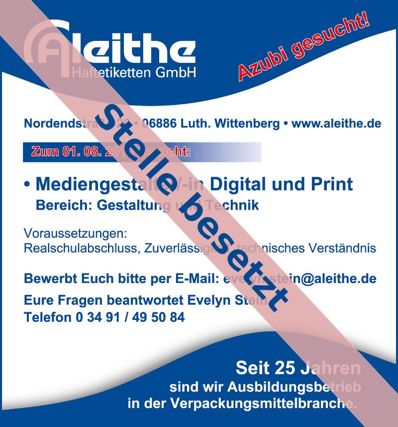 Azubi gesucht: Mediengestalter/-in Digital und Print