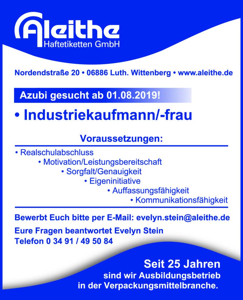 Industriekaufmann/-frau Azubi gesucht